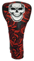 Skull & Roses All-Over Embroidered Driver Headcover by ReadyGOLF