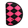 BeeJos: Golf Head Cover - Hot Pink and Black Argyle (Driver 460cc Cover) SALE