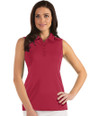 Antigua: Women's Essentials Sleeveless Polo - Tribute 104411 (043 Cardinal Red, Size Small) SALE