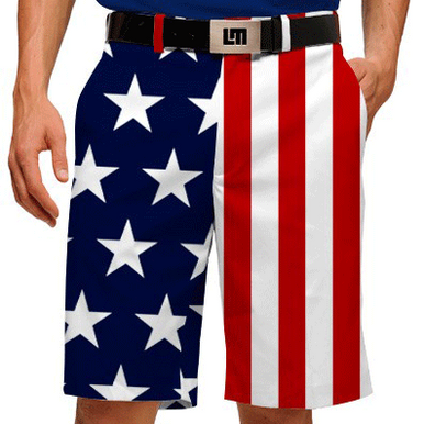 Stars Amp Stripes American Flag Mens Shorts By Loudmouth Golf