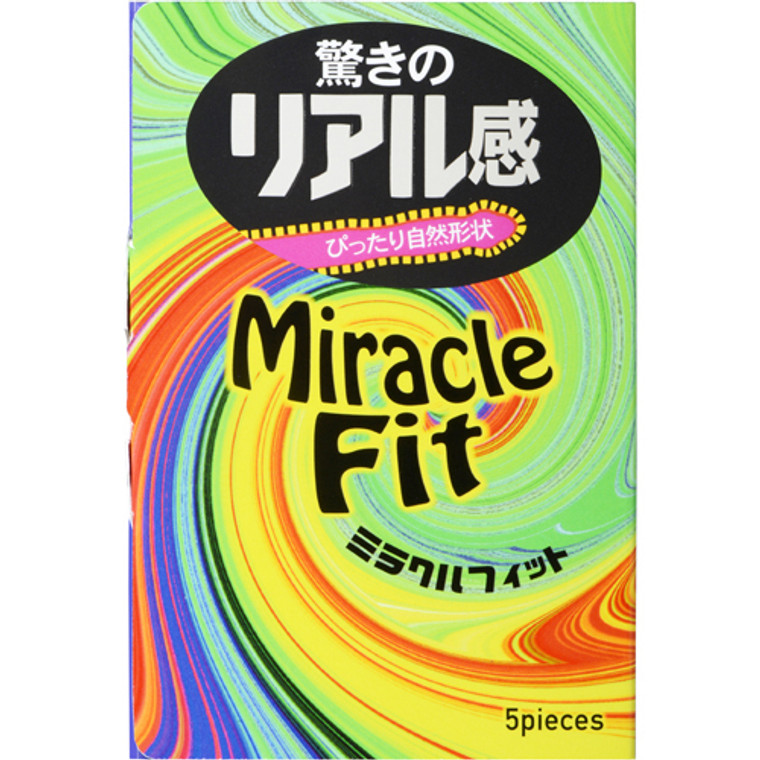 Sagami Miracle Fit 5-Pack Condoms (Made in Japan) (4974234020997)