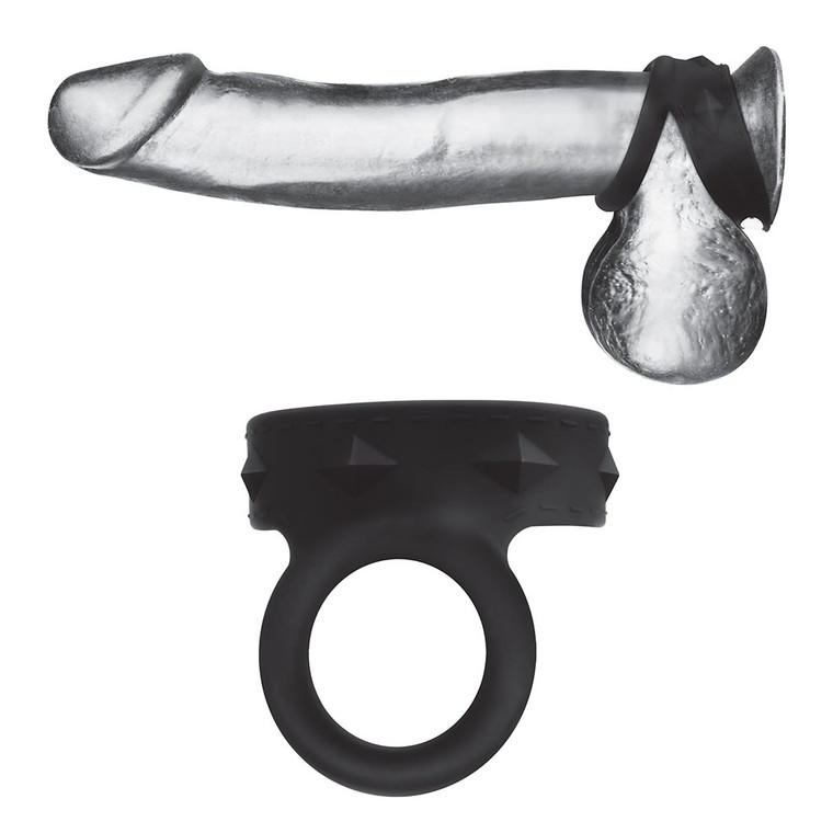 Blueline Silicone Duo Snap Cock & Ball Ring (BLM3072)