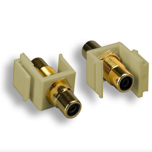CLOSEOUT - Keystone Connector Beige-Jack With Black-RCA