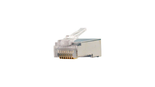 CAT5E Shielded Plug For Round Solid or Stranded Cable - 100 Count Count