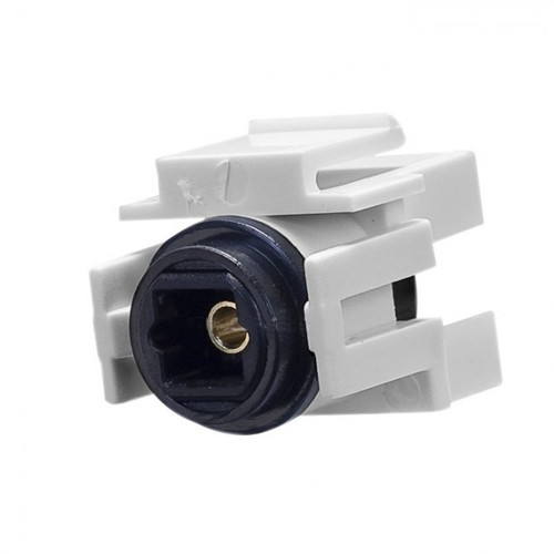 CLOSEOUT - Keystone Toslink Optical Audio Connector, White