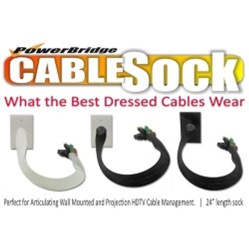 CLOSEOUT - PowerBridge CableSock Pass-Through Wall Plate