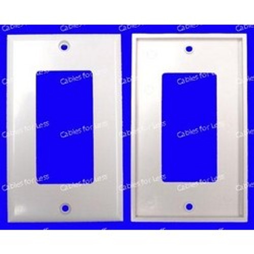 Decorator Single Gang White Wall Plate