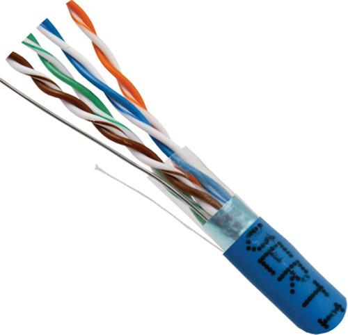 Blue STP CAT5 Cable Shielded Solid Bulk