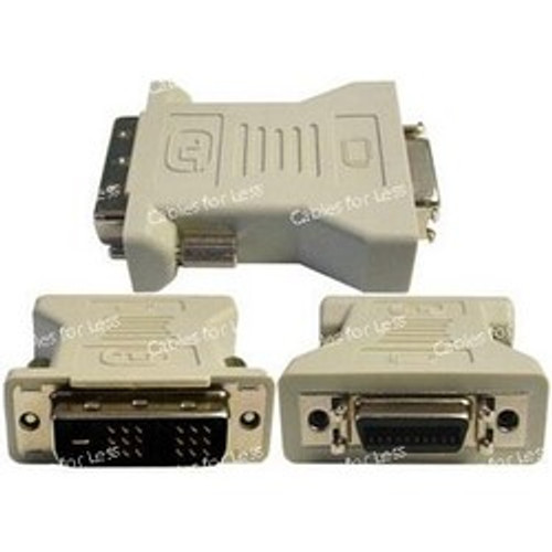 DVI-D Male To DFP Female Gender Changer, Beige With Gold Plated Contacts