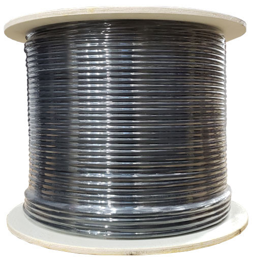 Black Shielded CAT6 STP Cable Bulk Spool