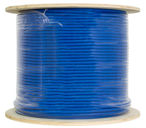 Blue Shielded CAT6 STP Cable Bulk Spool