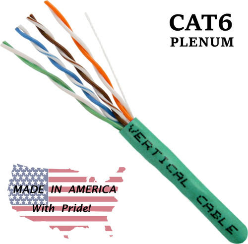 Cat6 Plenum Cable Bulk Green