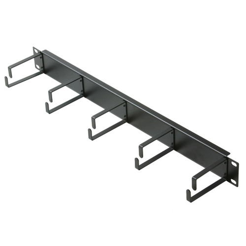 1U Metal D-Ring Cable Management 19 inch Rack Mount