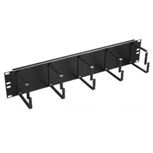 2U Metal D-Ring Cable Management 19 inch Rack Mount