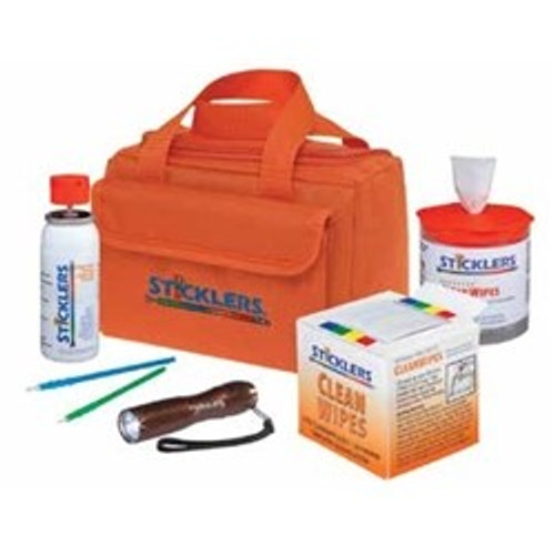 CLOSEOUT – Sticklers Fiber Optic Cleaning Kit Orange canvas bag