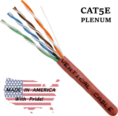 Bulk Plenum Cat5 Red