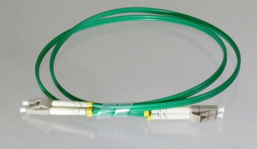 Overstock Custom 1 Meter Fiber OM3 Multimode Duplex  LC/LC (Green)