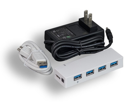 USB 3.0 4 Port Hub with power