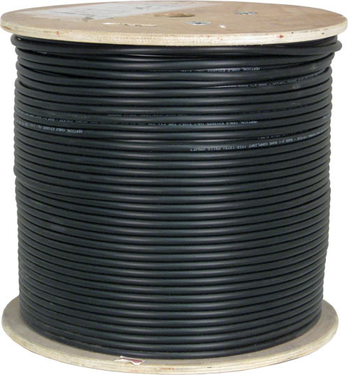 Black Shielded CAT6 Plenum