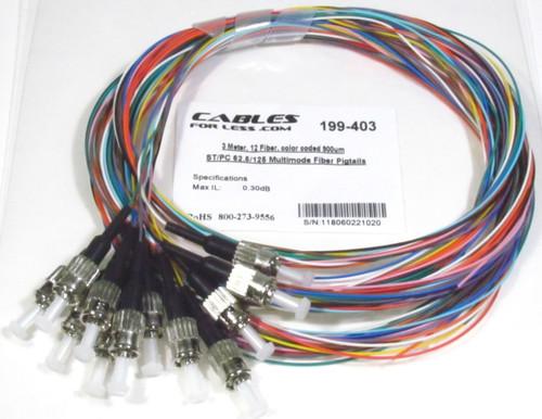 ST/UPC 62.5/125 Multimode Fiber Pigtail