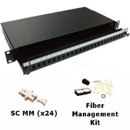 CLOSEOUT - Fiber Patch Panel 24 Port Multimode SC Simplex