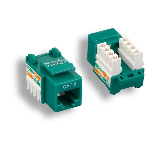 CLOSEOUT - Green Cat 6 Keystone Jack