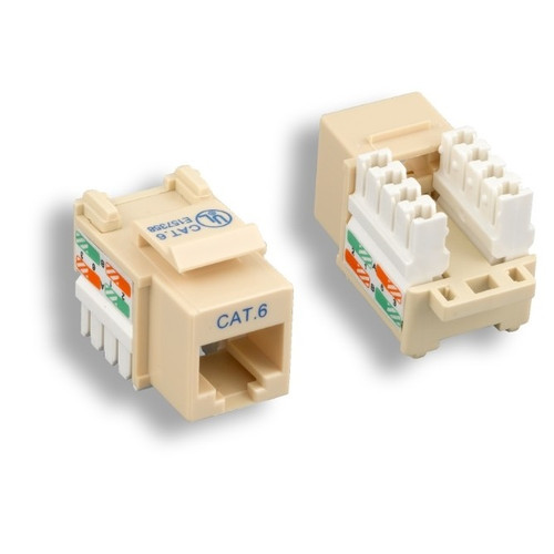CLOSEOUT - Ivory Cat 6 Keystone Jack
