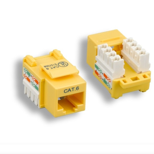 CLOSEOUT - Yellow Cat 6 Keystone Jack