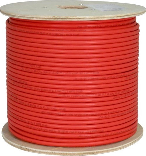 Red Shielded CAT6 STP Cable Bulk Spool