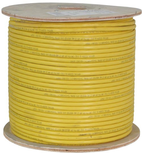 Yellow Shielded CAT6 STP Cable Bulk Spool