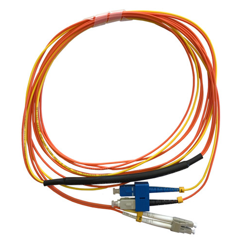 1 Meter LC- 50/125 MM/SC- SM Mode Conditioning Fiber Optic Patch Cable (SC Equip / LC Plant)