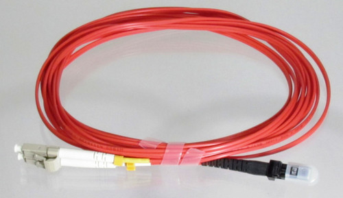 Overstock Custom 3 Meter Fiber OM1 Multimode Duplex, LC-MTRJ (Red Jacket)