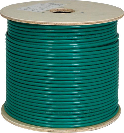 Green Shielded CAT6 STP Cable Bulk Spool