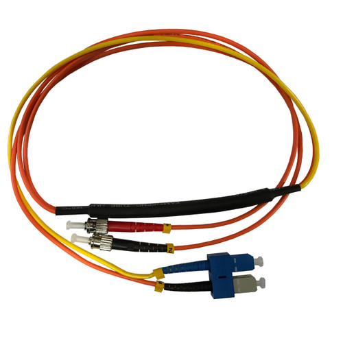 1 Meter ST- 62.5/125 MM/SC- SM Mode Conditioning Fiber Optic Patch Cable (SC Equip / ST Plant)