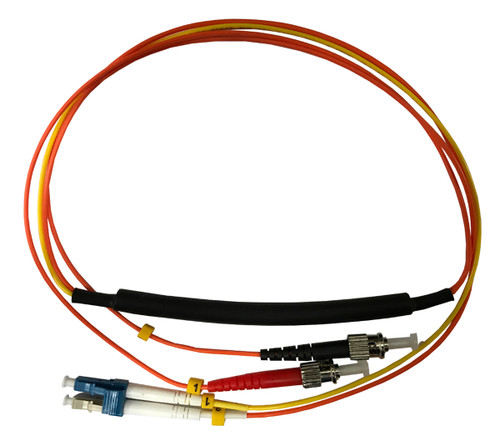 1 Meter ST- 50/125 MM/LC- SM Mode Conditioning Fiber Optic Patch Cable (LC Equip / ST Plant)