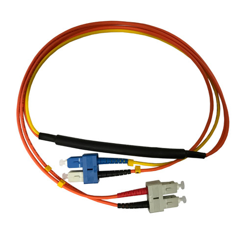 3 Meter SC- 50/125 MM/SC- SM Mode Conditioning Fiber Optic Patch Cable (SC Equip / SC Plant)