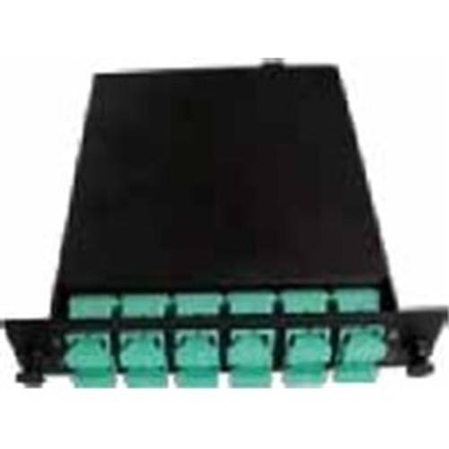 CLOSEOUT - 12 Fiber, SC Multi Mode OM4 50um MTP Male Cassette Total of 12 SC Simplex ports