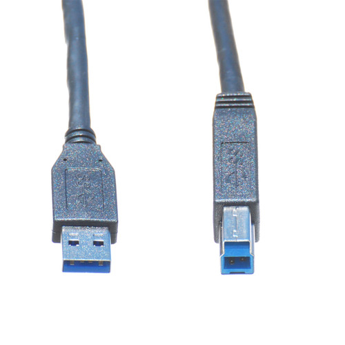10ft USB 3.0 A Male to B Male Cable, Black