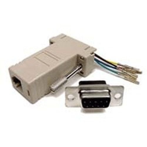 Super High Quality  RJ12 (6P6C) To DB9F Adapter/ assembled & labled