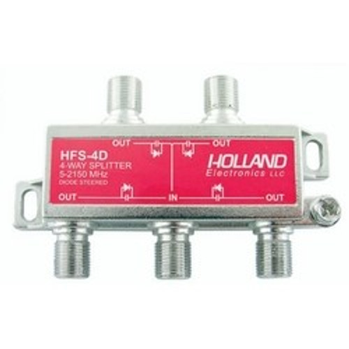 CLOSEOUT - 4-Way High Frequency Splitter