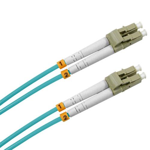 3 Meter Fiber, 10 Gigabit Multimode 50/125, Duplex, Aqua Color Plenum Jacket, LC/LC