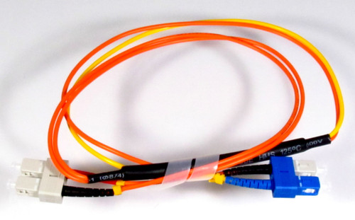 CLOSEOUT - 1 Meter ST- 62.5/125 MM/SC- SM/SC,  Mode Conditioning Fiber Optic Patch Cable (SC Equip / SC Plant)