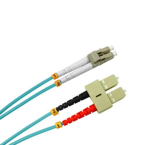 3 Meter LC-SC 10 Gigabit Ethernet Multimode Fiber