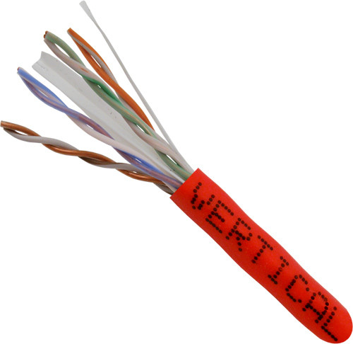 Red CAT6A Solid Bulk Cable