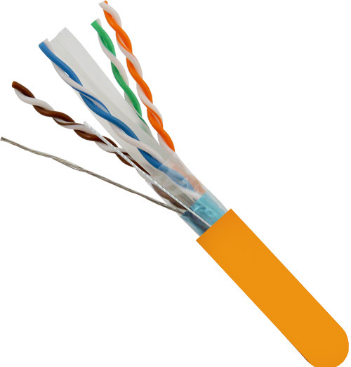 Orange Shielded CAT6A STP Solid Bulk Cable