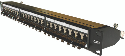 Shielded CAT6 Patch Panel