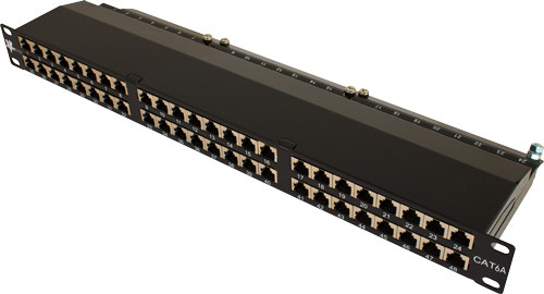 CAT6A 48 PORT SHIELDED PATCH PANEL, DUAL TYPE
