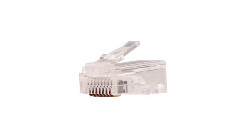 CAT5E Feed Thru Style Modular Plug For Solid or Stranded Cable - 100 Count