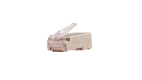 CAT5E RJ45 Shielded Modular Plug With Ground Wire Hook - 100 Count