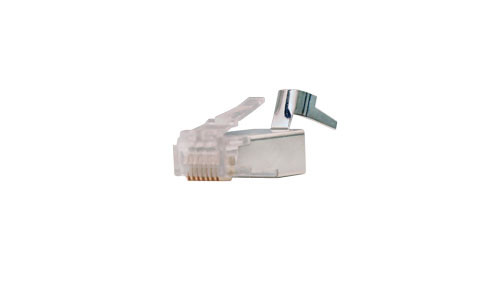 CAT6A Shielded Plug For Solid Cable (CAT6 or CAT6A) - 100 Count